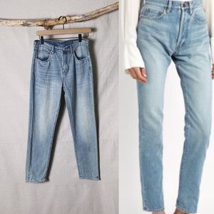 BLANK NYC Tapered High Rise Mom Jeans Light